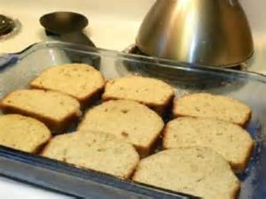 Lay Banana Bread in Casserole or Baking Dish
