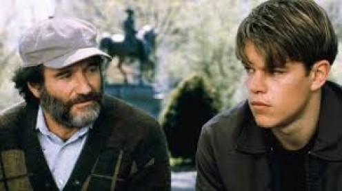 Robin Williams and Matt Damon star in Good Will Hunting which was a moving film.