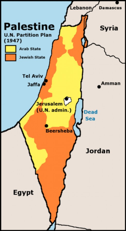 Under the plan the Jews would receive the northern coastal plain, eastern Galilee, and the Negev. The Arabs would get a section of desert bordering Egypt (the Gaza Strip), the Samarian and Judean highlands, and the southern coast.