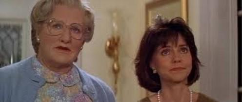 """Robin Williams played alongside Sally Field in """"Mrs. Doubtfire""""."""