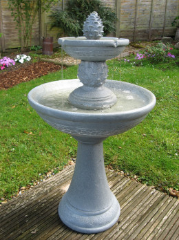 My Bird Bath Water Feature in Operation