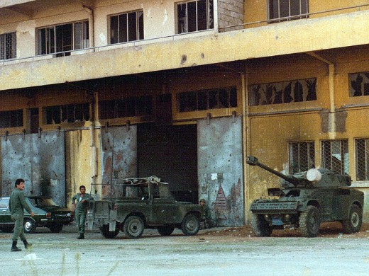 Lebanese troops awaiting Israeli invasion in 1982. The Israelis would attempt to invade again in 2006.