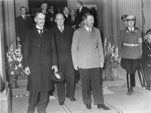 Chamberlain and Hitler - Munich 1938