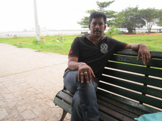 It is me on the spot (the park is in Fort Kochi)