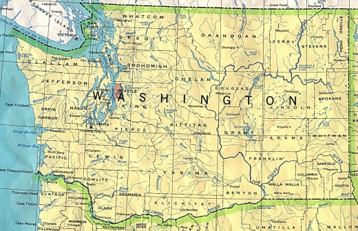 All-inclusive map of Washington State
