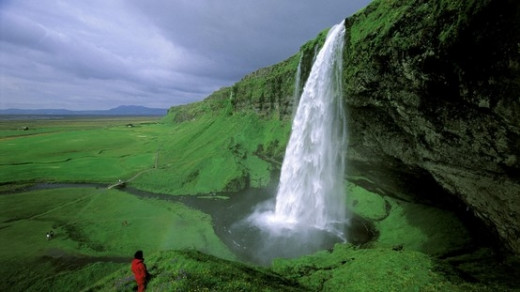 Seljulandsfoss - waterfall on the south-east coast of Iceland