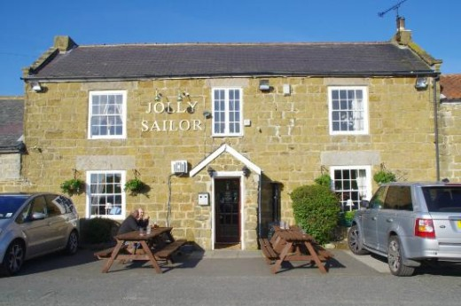 The Jolly Sailor, now set away from the A171. The staff had no idea of the hairy situation the landlord found himself in back in 1963