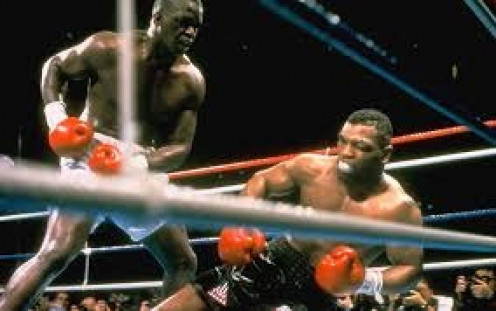 Buster Douglas shocked the world when he knocked out Mike Tyson in ten rounds in Tokyo, Japan.