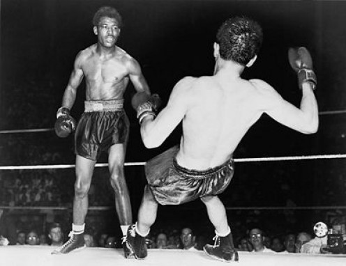 After being seriously hurt himself earlier in the bout Sugar Ray took over and knocked out Artie Levine in the tenth round of a scheduled fifteen.