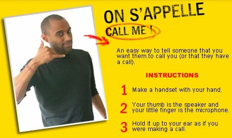 French gesture: Directions for On s'appelle