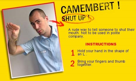 French gesture: Directions for the Camembert