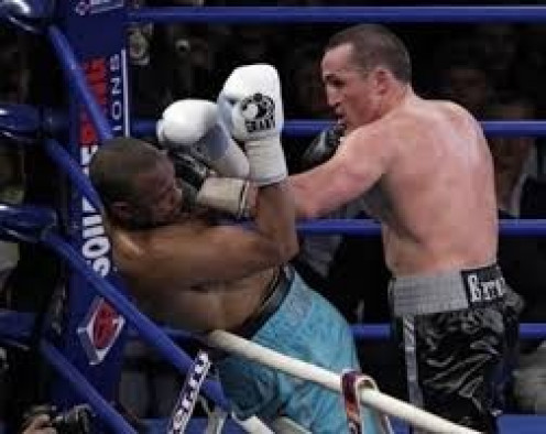 Roy Jones fought on even terms with Denis Lebedev until getting knocked out in the final round.