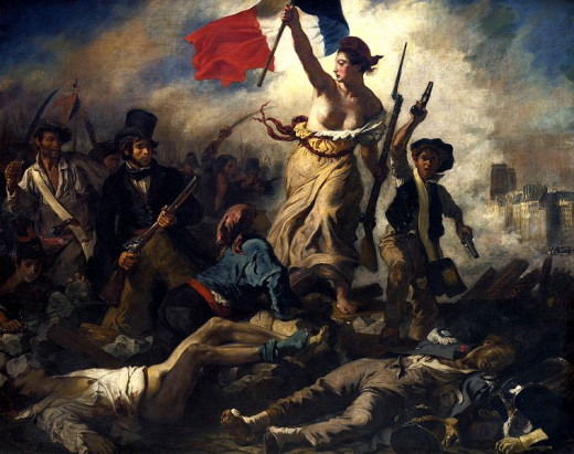 This painting of the July Revolution of 1830 that made Louis-Philippe the French King is both a depiction of and an act of nationalism. The artist Eugene Delacroix wrote: 'If I haven't fought for my country at least I'll paint for her'.