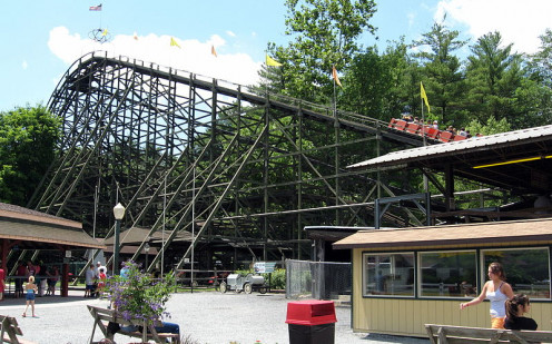 The Phoenix ride at Knoebels.