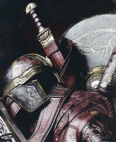 Weaponry and helm as made new and...