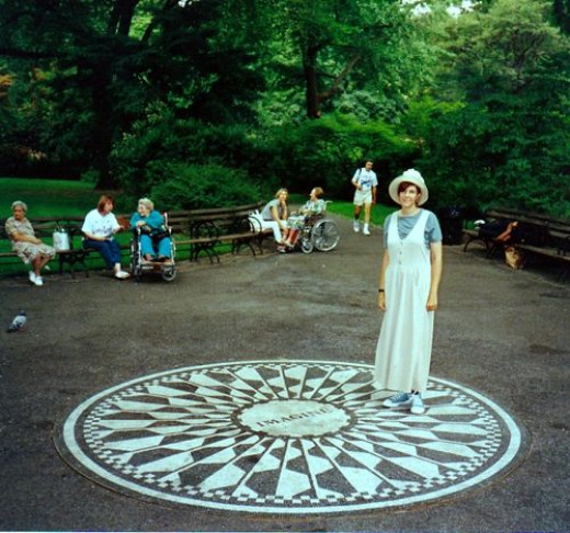 The author in Strawberry Fields, Central Park