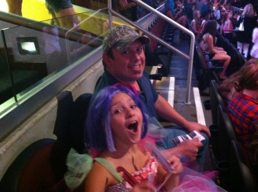 Not only did I attend the Katy Perry Cleveland concert with my little Katycat, but her dad got in on the action too.
