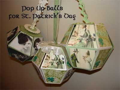 3 Celtic Pop-up Balls Celebrating St. Patrick's Day