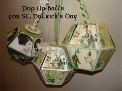 3 Celtic Pop-up Balls Celebrating St. Patrick's Day