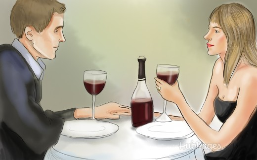 Set a good impression in person over dinner.