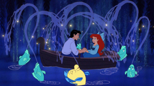 """Photo from the """"Kiss the Girl"""" scene of The Little Mermaid"""