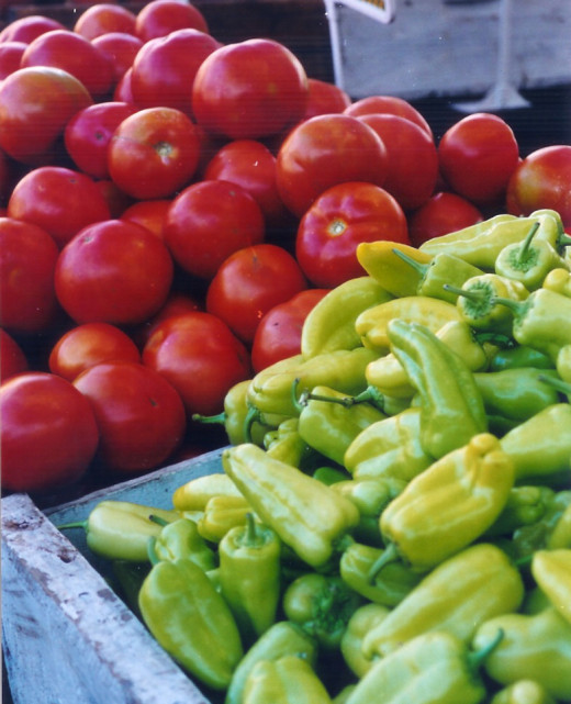 Photo taken of fresh produce at Clovis Farmer's Market.
