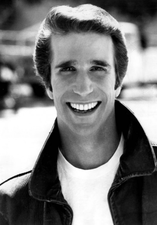 Photo of Henry Winkler as Fonzie from the television program Happy Days. 2 August 1977 ABC Television