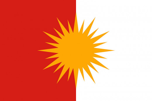 The Yazidi flag