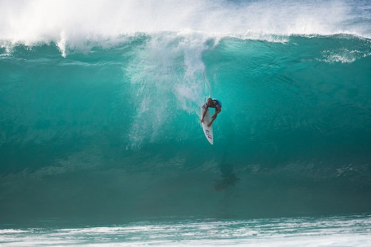 This is one of the legendary photos - Slater at Pipeline Masters where he beat John John Florence in the finals.