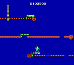 There is an awful lot of platforming in this game, which isn't a good thing. The controls feel very awkward and unresponsive in comparison to later games in the series. If you're used to Mega Man 2 and 3, you'll die a lot trying to get used to it.