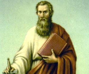 A depiction of St Paul