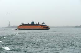 Orange Commuter Ship