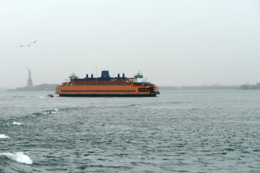 Orange Commuter Ship