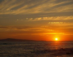 Beautiful red, yellow and orange sunset.