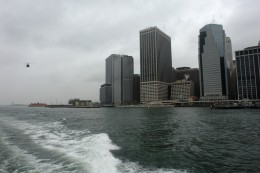 Gray New York Day on the Hudson