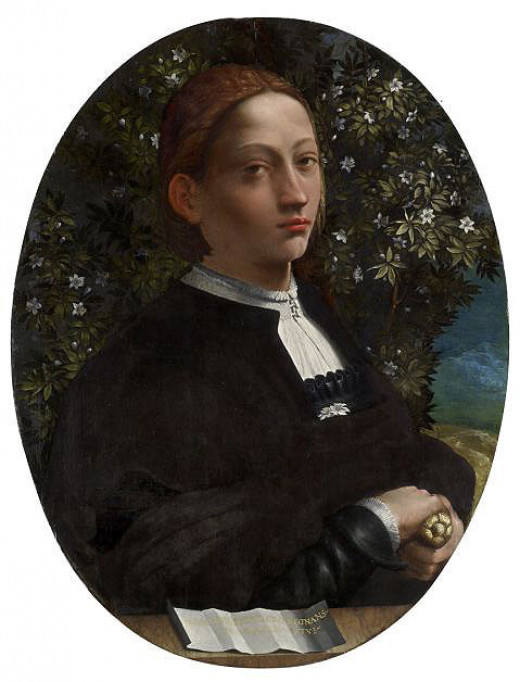 Dosso Dosi (?), Portrait of a Youth (Lucrezia Borgia?) a. 1518, Melbourne Victoria National Gallery