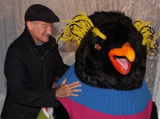 Robin Williams at Happy Feet Premiere in Australia