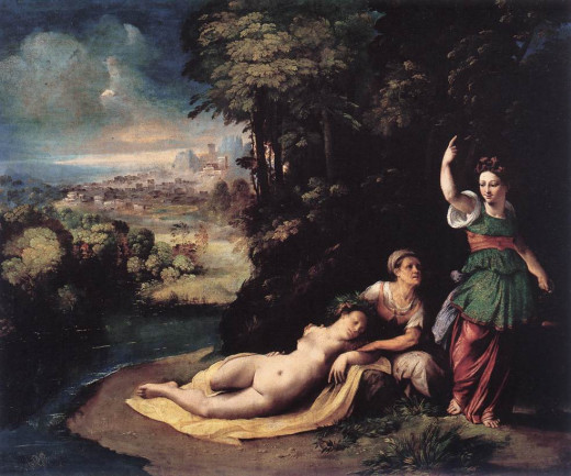 Dosso Dossi, Mythological Allegory (a. 1530), Rome Galleria Borghese