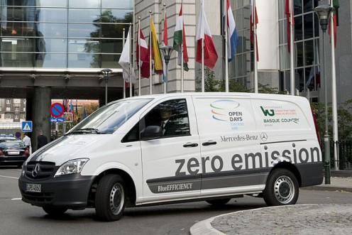 Mercedes Vito E-Cell, one of the vehicles eligible for the government grant