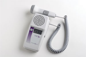LifeDop L250 uses Doppler technology to examine fetal heartbeats and blood-related conditions.
