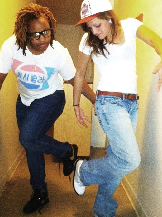 My roommate Sophomore year, Sara Spaulding & I dressed up, portraying how silly boys in the world pose for pictures.