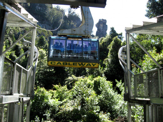 The Cableway at Scenic world will take you down to the valley floor and offers great views of the 3 sisters.  It is also great for anyone with mobility issues.