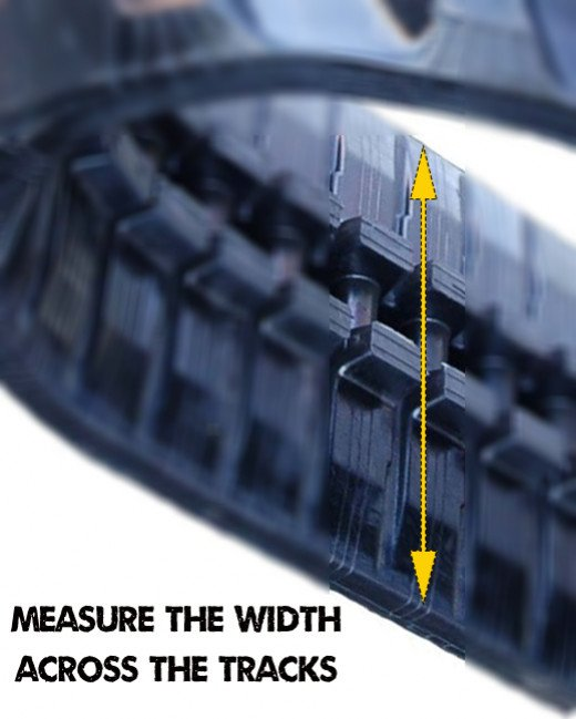 Measure the width of your rubber tracks.