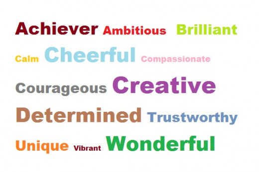 3 adjectives that best describe you