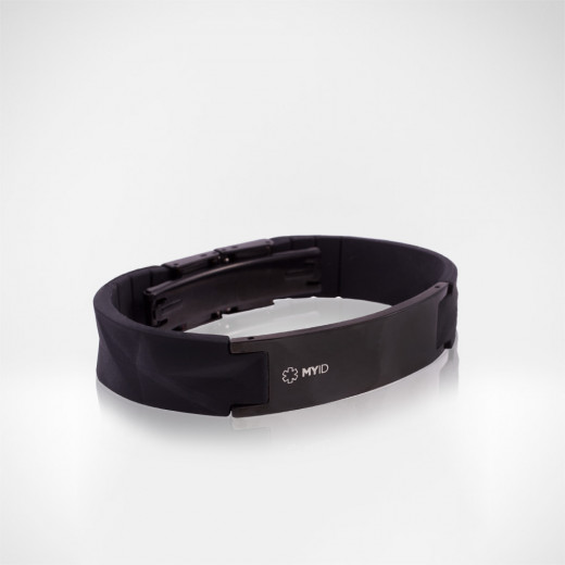 In addition to solid black, the MyID Luxe comes in several different color combinations.