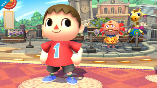 The Villager in his Animal Crossing stage.