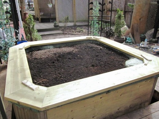 Hot tub planter: top frame upside-down. Photo by timorous