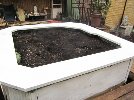 Hot tub planter: a primer coat. Photo by timorous