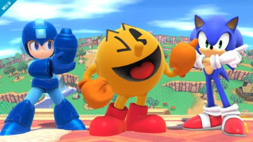 Pac-Man alongside Mega Man and Brawl veteran Sonic the Hedgehog