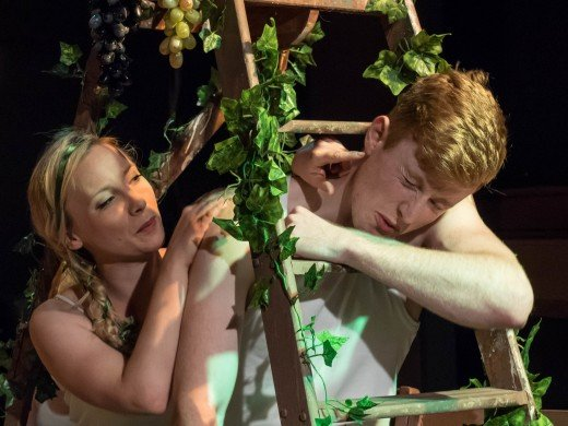 Catriona Mackenzie (Eve) and Rafe Watts (Adam) in 'The Diary of Adam & Eve'